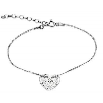Sterling Silver Braclet Celebrities Heart