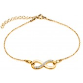 Sterling Silver Gold Plated Braclets Celebrities Infinity