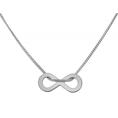 Naszyjnik celebrytka srebrny 925 infinity 42+4cm