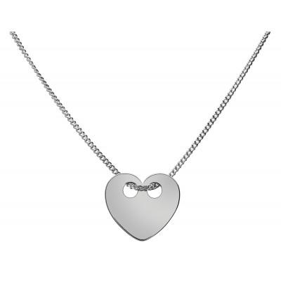 Naszyjnik celebrytka srebrny 925 serce 42+4cm