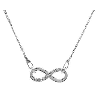 Naszyjnik celebrytka srebrny 925 infinity nieskończoność