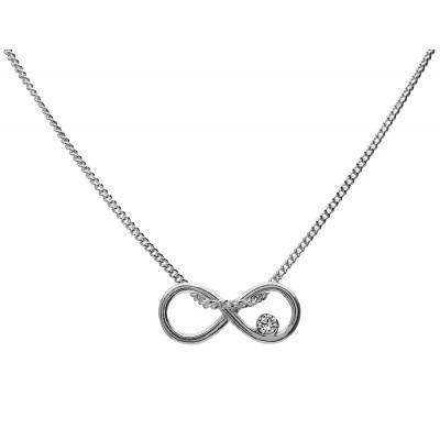 Naszyjnik celebrytka srebrny 925 infinity nieskończoność 42+4cm
