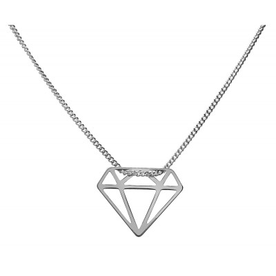 Sterling Silver Necklace Celebrities Diamond 42+4cm