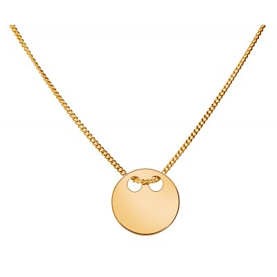 Sterling Silver Gold Plated Necklace Celebrities 42+4cm