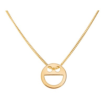Sterling Silver Gold Plated Necklace Celebrities Smile 42+4cm