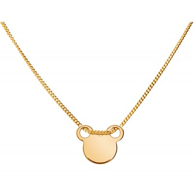 Sterling Silver Gold Plated Necklace Celebrities Mickey Mouse 42+4cm
