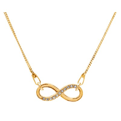 Sterling Silver Gold Plated Necklace Celebrities Infinity