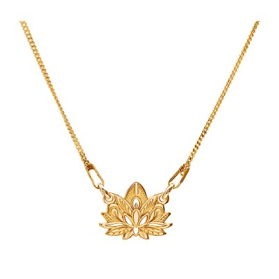 Sterling Silver Gold Plated Necklace Celebrities Lotus