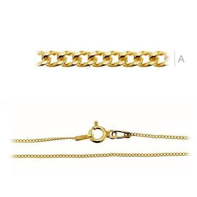 Gold Curb chain PDS35 Z 45cm