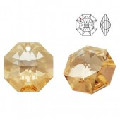 Swarovski Strass 8115 Octagon 14mm Golden Shadow