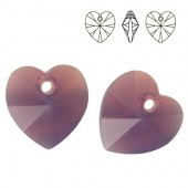 6228 Xilion Heart 14mm Black Diamond