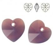Swarovski 6228 Serce Heart 14mm Black Diamond