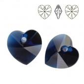 Swarovski 6228 Serce Heart 14mm Cyclamen Opal