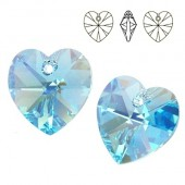 Swarovski 6228 Serce Heart 10mm Aquamarine AB