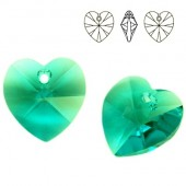 6228 Xilion Heart 10mm Blue Zircon