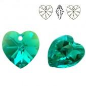 6228 Xilion Heart 10mm Black Diamond AB