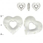 Swarovski 6261 Devoted 2 U Heart 36mm Crystal AB