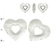 Swarovski 6261 Devoted 2 U Heart 36mm Crystal AB