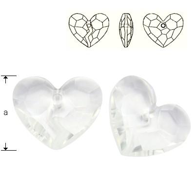 6263 Forever 1 Heart 36mm Crystal