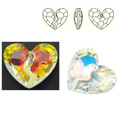6263 Forever 1 Heart 36mm Crystal AB