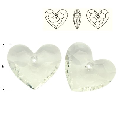 6264 Truly in Love Heart 18mm Crystal