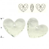 6264 Truly in Love Heart 28mm Crystal AB