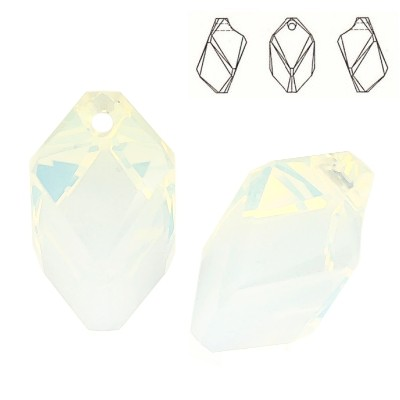 6650 Cubic 22mm White Opal