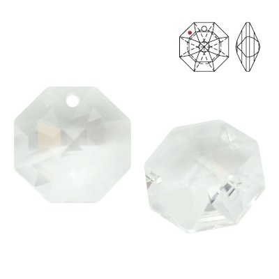 8115 Octagon 14mm Crystal
