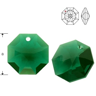 8115 Octagon 14mm Emerald