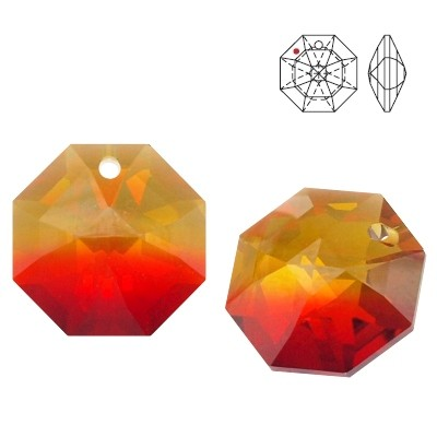 8115 Octagon 14mm Fire Opal GOLDT