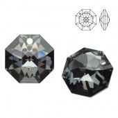 Swarovski Strass 8115 Octagon 14mm Silver Night