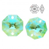 8115 Octagon 14mm Antique Green Blue AB