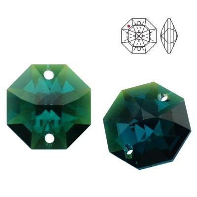 8116 Octagon 14mm Emerald Blue AB