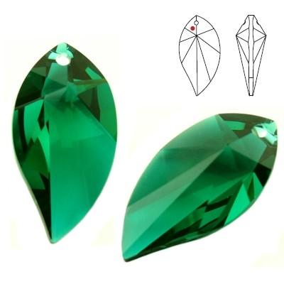 Swarovski Strass 8806 New Leaf 28mm Emerald