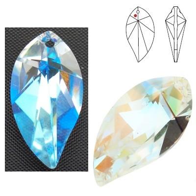 Swarovski Strass 8806 New Leaf 28mm Crystal Blue AB