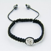 Shamballa Bracelets 1x 10mm Crystal