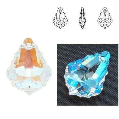 6090 Baroque 22mm Crystal Blue AB