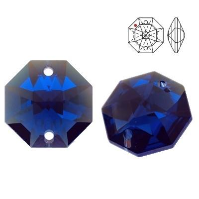 8116 Octagon 14mm Dark Sapphire Blue AB