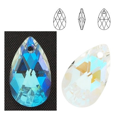 6106 Pear-shaped 22mm Crystal Blue AB