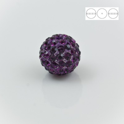 Discoball Bead 10mm Amethyst