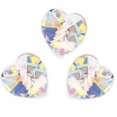 6228 Xilion Heart 14mm White Opal