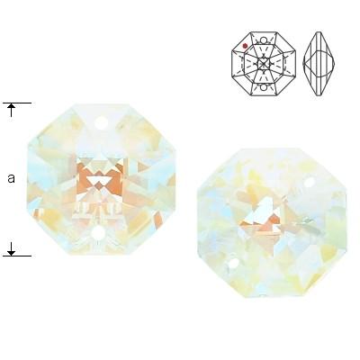 8116 Octagon 14mm Crystal Blue AB